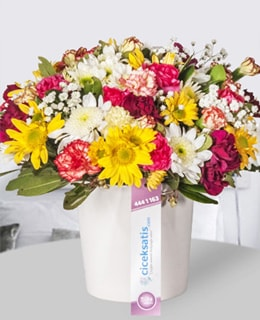 Seramikte Kır Çiçeği